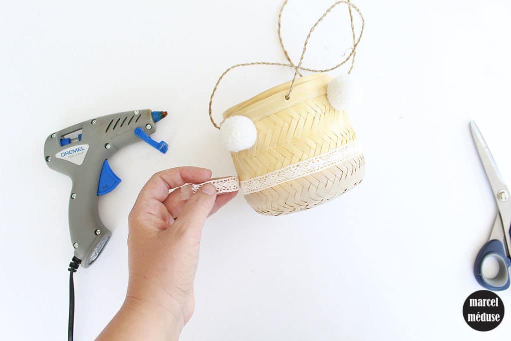 Tutoriel cache-pot bohème : petit modèle