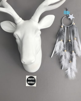 Mini mini Dream catcher, coloris blanc et gris