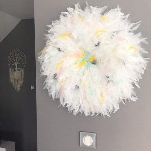 Juju Hat plumes blanches et pastelles | marcel méduse