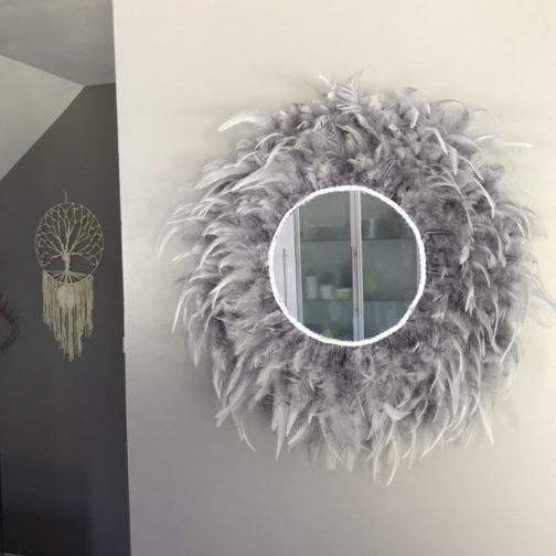Miroir Juju Hat plumes grises | marcel méduse