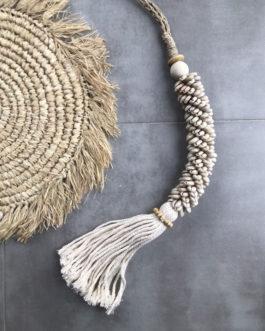 Embrase de rideau ou pompon de porte coquillages coloris écru Bali