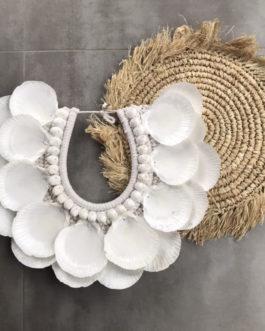 Gros Collier double coquillages balinais Modèle Orel
