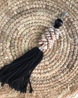 Porte clés coquillages coloris noir