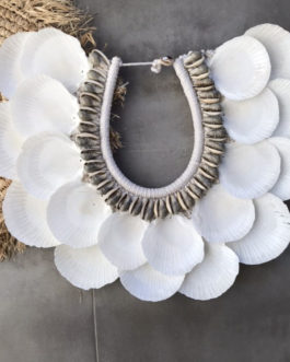 Gros Collier double coquillages balinais Modèle Orel II