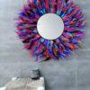 miroir geant en plumes