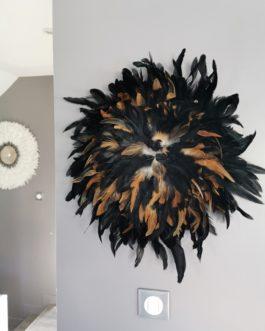 A Jujuhat / juju hat en plume 55 cm de diamètre – coloris noir et fauve