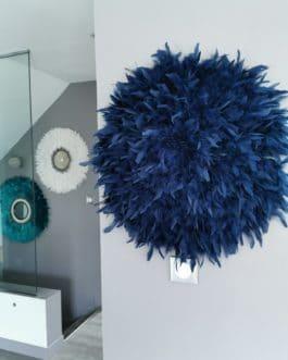 A Jujuhat / juju hat en plumes 60 cm de diamètre Taille XL – coloris bleu nuit (navy)