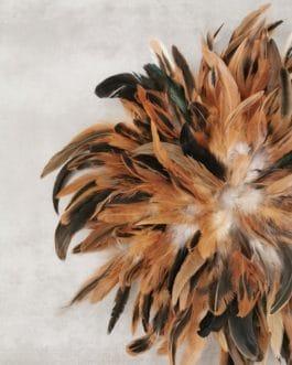 A juju hat marron et fauve et nuances de noir (diamètre 40 cm)