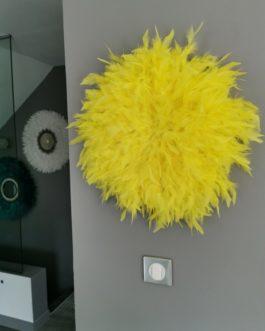 A TRIO de juju hats XL coloris blanc pur, bleu canard et jaune vif (Diamètre 60/50/50)