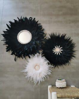 A TRIO de juju hats noir et blanc (Diamètre 65/50/40)