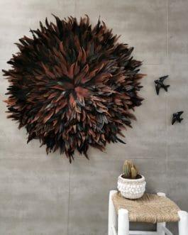 A juju hat XXL coloris marron et noir (diamètre 85 cm)